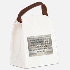 Genesis 12:1 Canvas Lunch Bag