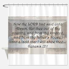 Genesis 12:1 Shower Curtain