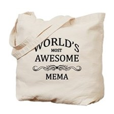 World's Most Awesome Mema Tote Bag