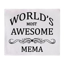 World's Most Awesome Mema Throw Blanket