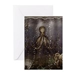 Octopus' lair - Old Photo Greeting Cards (Pk of 10