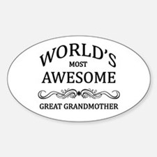 World's Most Awesome Great Grandmother Decal