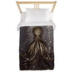 Octopus' lair - Old Photo Twin Duvet