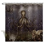 Octopus' lair - Old Photo Shower Curtain