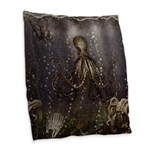 Octopus' lair - Old Photo Burlap Throw Pillow