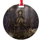 Octopus' lair - Old Photo Round Ornament