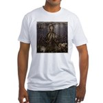 Octopus' lair - Old Photo Fitted T-Shirt