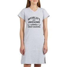 World's Most Awesome Great Grandma Women's Nightsh