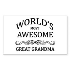 World's Most Awesome Great Grandma Decal