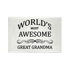 World's Most Awesome Great Grandma Rectangle Magne