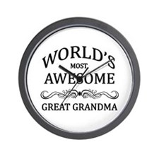 World's Most Awesome Great Grandma Wall Clock