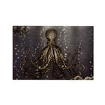 Octopus' lair - Old Photo Rectangle Magnet (100 pa