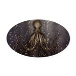 Octopus' lair - Old Photo Oval Car Magnet