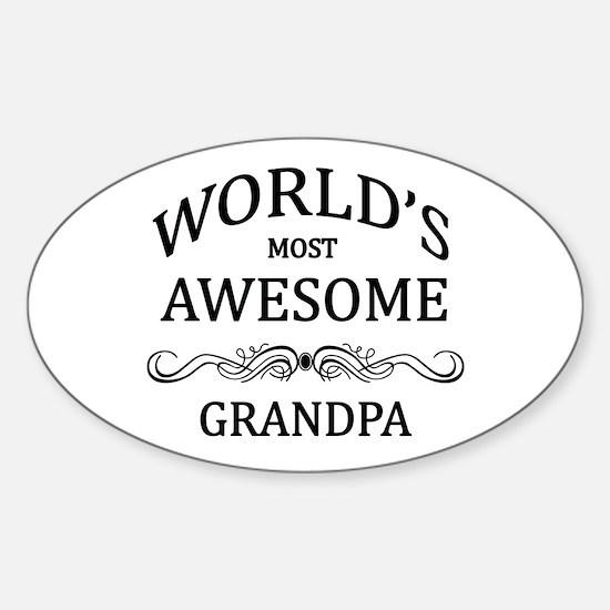 World's Most Awesome Grandpa Sticker (Oval)
