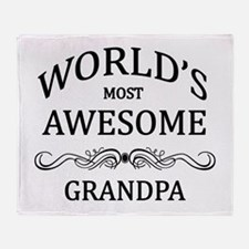 World's Most Awesome Grandpa Throw Blanket