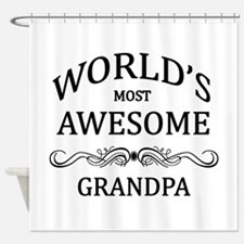 World's Most Awesome Grandpa Shower Curtain