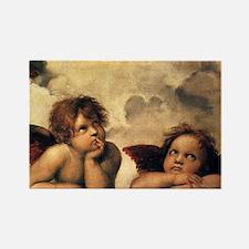 Angels by Raphael, Vintage Renais Rectangle Magnet
