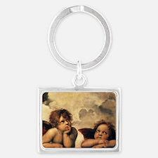 Angels by Raphael, Vintage Rena Landscape Keychain
