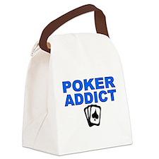 Poker Addict Canvas Lunch Bag
