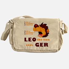 LEO The Lion Says GER Messenger Bag