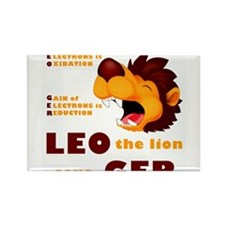 LEO The Lion Says GER Rectangle Magnet