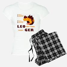 LEO The Lion Says GER Pajamas