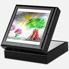 Childs Drawing Keepsake Box