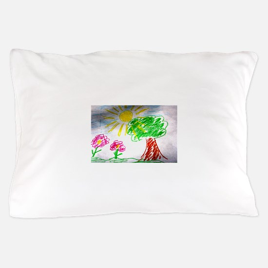 Childs Drawing Pillow Case