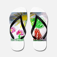 Childs Drawing Flip Flops