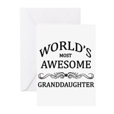 World's Most Awesome Granddaughter Greeting Cards