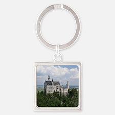 Neuschwanstein Castle Square Keychain