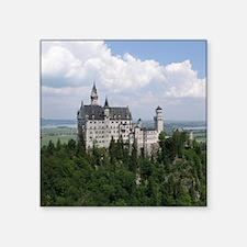 """Neuschwanstein Castle Square Sticker 3"""" x 3"""""""