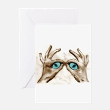 Hand Shaped Eyes Greeting Card