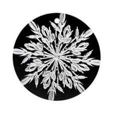 Ice Crystal Ornament (Round)