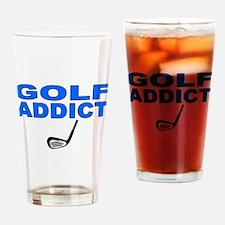 Golf Addict Drinking Glass