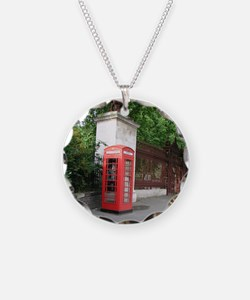 London Phone Booth Necklace