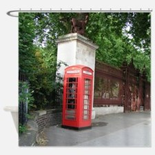London Phone Booth Shower Curtain