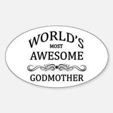 World's Most Awesome Godmother Sticker (Oval)