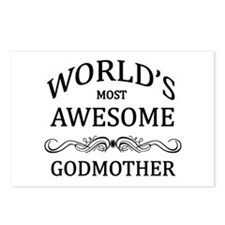World's Most Awesome Godmother Postcards (Package