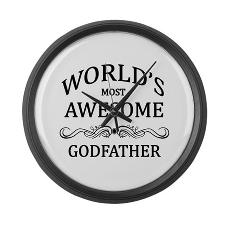 World's Most Awesome Godfather Large Wall Clock