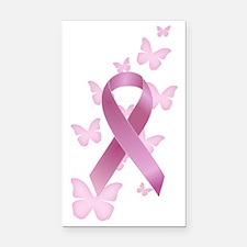 Pink Awareness Ribbon Rectangle Car Magnet