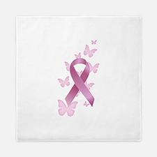 Pink Awareness Ribbon Queen Duvet