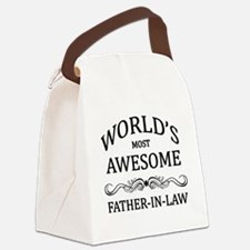 World's Most Awesome Father-in-Law Canvas Lunch Ba