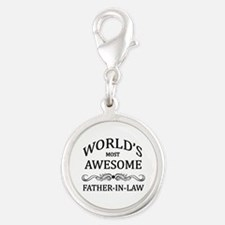 World's Most Awesome Father-in-Law Silver Round Ch