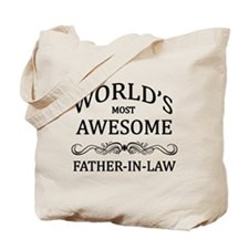 World's Most Awesome Father-in-Law Tote Bag