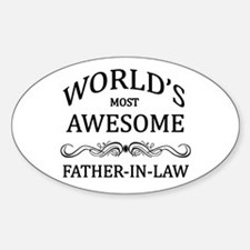 World's Most Awesome Father-in-Law Sticker (Oval)