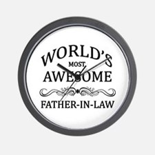 World's Most Awesome Father-in-Law Wall Clock