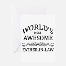 World's Most Awesome Father-in-Law Greeting Card