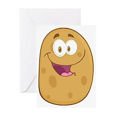cute tater potato cartoon Greeting Card