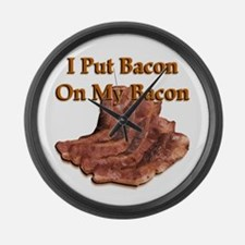 Bacon On Bacon Large Wall Clock